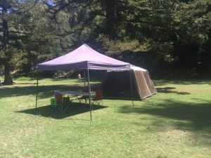 Basin Ku-ring-gai Campsite Set Up - Accommodation Brunswick Heads